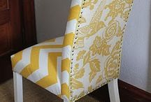Dining room chair makeover / by Jill Gebeck
