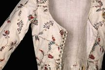 1770's - 1790's jakets and petticoats + florals