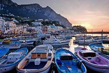 Destination... Capri Wedding / A Mediterranean wedding in Capri means white and blue decorations, stunning locations overlooking the deep blue sea, guests arriving by boat... Imagine the Faraglioni Rocks, the moon light and…Your dream is coming true.