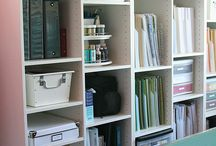 Craft Rooms - Shelves / Shelving ideas for Craft Rooms.