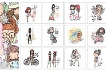 6011/0068 Paper & Pictures Girly girls