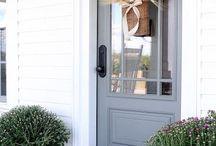 front and back door