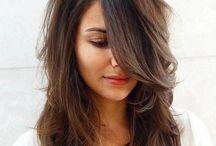 long/medium haircut