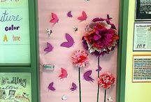 Breast cancer door decoration school / School stuff