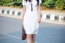 OOTD: Pearl white dress for Autumn / by indianfashionandlifestyle.com