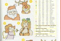 Graficos de natal / Ponto cruz