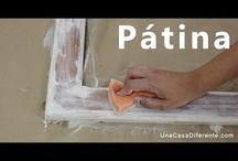 patina con pintura blanca envej
