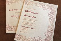 {invitation design} meiling / Meiling is a modern, letterpress wedding invitation design, for today's multicultural couple.