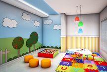 Børneværelse og legeplads