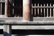 Terrazas de madera al exterior