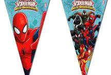 Børnefødselsdag Superhelte / Få inspiration til de sejeste superhelte børnefødselsdage med superman, ironman, spiderman, batman. Se vores serier fra blandt andet filmene Civil War og Batman vs. Superman