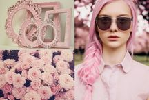 Pastel pink inspirations / Inspirations for summer outfits or decorating.