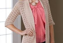 Crochet jackets, tops & scarves/throws