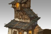 stylized buildings - enviroments refs