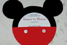 Mickey Mouse Birthday Decorating Ideas / Mickey Mouse Clubhouse Themed Birthday Party Ideas for Invitations, Mickey Ears, Decorating, Favors, Cakes etc.