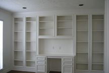 study with built in desk and shelves by shoarora, via Flickr