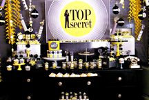Secret Agent Party / Calling all Secret Agents, your Mission should you choose to accept it is to throw the perfect party! Enjoy these inspirational spy ideas