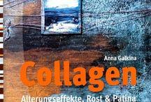 Portfolio / Books / Bücher / Anna Galkina, Bücher, Acrylmalerei, Collage, Drucktechniken, books, acrylic painting, collage, printing