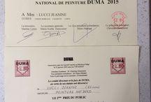 Diplome / Certificat de participation et mon 2 ème prix du public au concours de l'académie Duma 2015