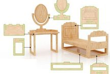 Dolls houses and furniture