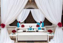 Red & Teal Wedding Ideas / by Ellen Martin Kramer