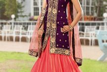 Catalog 3045 Wedding Designer Lehenga with Long Choli / Grab This Attractive Designer Wedding Wear Lehenga with Long Choli Available only on http://www.fashionfiza.com/lehenga-choli?catalog=1133 at Discount Price