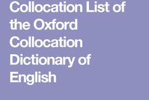 collocation list of the Oxford Collocation Dictionary of English