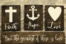 Faith hope and love signs