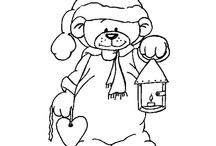 Colour a Teddy Bear