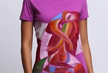 Hand painted women T shirts / Wear the artist in you, choose from one of the best collection of hand painted women Tshirts