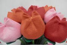 kwiatki z materjalu na yutubie