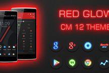 Glow Red CM13 CM12/12.1 Theme v3.6