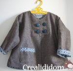 Patron manteau bébé fille