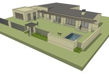 Residential renovation in Stellenbosch / Three Dimensional Visualisation of a proposed renovation to a house in Stellenbosch by Andre de Villiers Architects