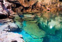 Cave, lake