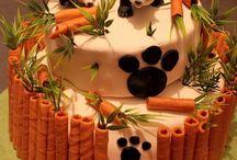bolos do panda e amigos