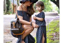 Moda mãe e filha / Por que você será a sua primeira grande ídola! Para quem ama tanto sua mini me que quer que o mundo as vejam, pelo menos por um dia, iguaizinhas! Inspirações para Moda tal mãe, tal filha!