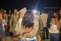 Military Homecoming Photography / Military Homecomings as photographed by Kristina Elizabeth Photography aboard Camp Pendleton and MCAS Miramar