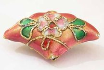 Authentic Cloisonne Metal Beads / Authentic decorative cloisonne beads are world renowned for their artistry, representing the centuries old tradition and setting a standard for artistic expression, enamel artwork,  an art which has produced some of the most brilliant decorative design to adorn jewellery products, and other fashionable items.