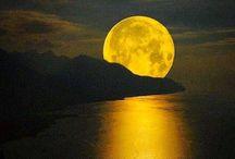 The moon & the stars & the sky