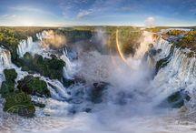 Cataratas del Iguazú 360° / Un equipo de fotógrafos rusos recorre el planeta para mostrarlo desde una perspectiva desconocida; capturan las tomas en 360° desde los helicópteros. Y pasaron por Cataratas!