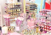 girly makeup table