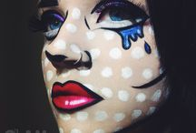 pop art make up halloween