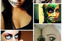 Costume Face Paint / Face painting for costumes and make-up / by Elianne de Geus