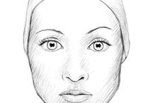 women's face drawing
