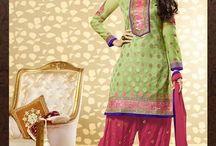 Salwar Kameez Patiyala Trendz / #Indian #Salwar #Kameez #PatiyalaSalwar #patterns #silk #georgette #chiffon #net and more  #Landmarkdesignerstudio #Panchkula #Chandigarh