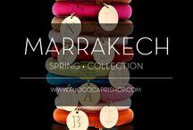Marrakech collection / Bracciale bangle in seta colorata e lettera incisa