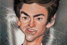 Portre Karikatür / Çizdiğim portrelerden....