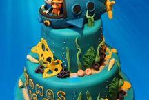 "Sea and Pirates treasure Cakes  - Dortíky ""Moře a Piráti"""