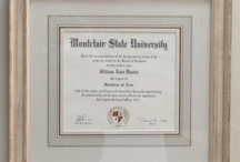Diploma framing / Traditional and non-traditional framing ideas for your diploma.